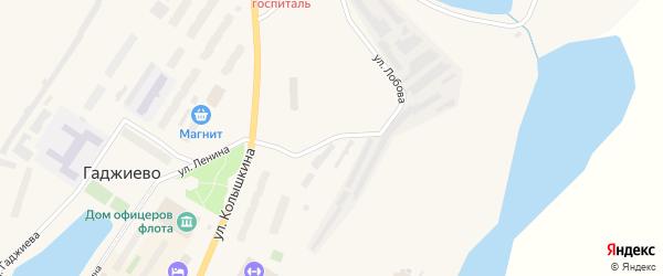 Улица Лобова на карте Гаджиево с номерами домов