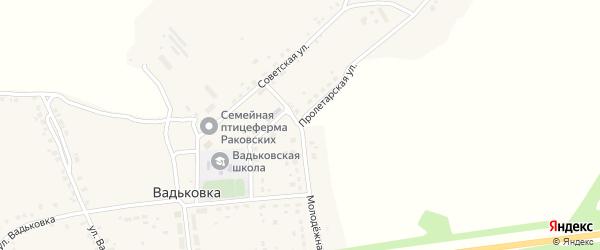 Пролетарская улица на карте деревни Вадьковки с номерами домов