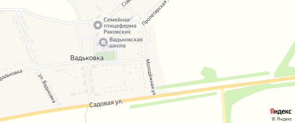 Молодежная улица на карте деревни Вадьковки с номерами домов