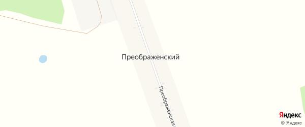 Преображенская улица на карте Преображенского поселка с номерами домов