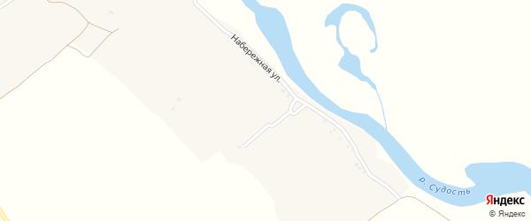 Набережная улица на карте деревни Горицы с номерами домов