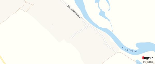 Речная улица на карте деревни Горицы с номерами домов