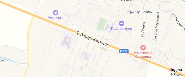 Кирова 2-й переулок на карте поселка Сещи с номерами домов