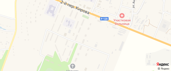 Территория Гаражи в р-не очистных сооружений Блок 3 на карте поселка Сещи с номерами домов