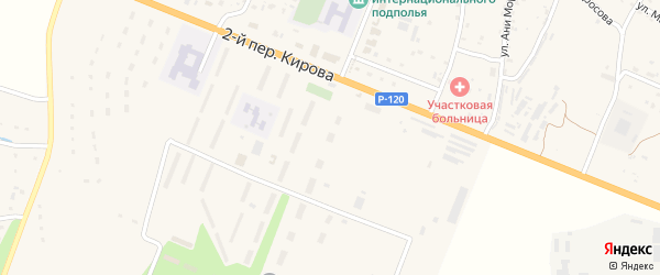 Территория Гаражи по улице Кирова Блок 2 на карте поселка Сещи с номерами домов