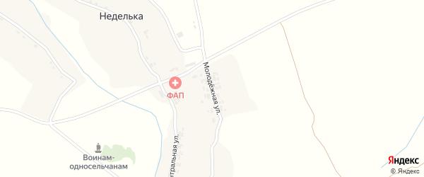 Молодежная улица на карте деревни Недельки с номерами домов