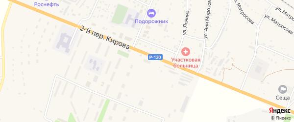 Территория Гаражи по улице Ани Морозовой Блок 1 на карте поселка Сещи с номерами домов