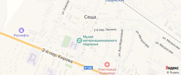 Сещинская улица на карте деревни Сещи с номерами домов