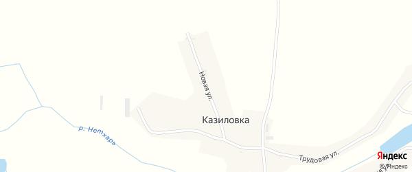 Новая улица на карте деревни Казиловки с номерами домов
