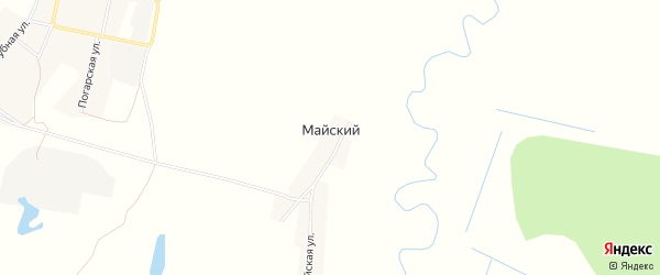 Карта Майского поселка в Брянской области с улицами и номерами домов