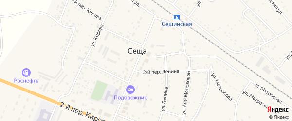 Территория Блок 1 огородничество в районе очистных на карте территории Сещинского сельского поселения с номерами домов