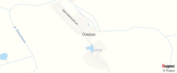 Карта деревни Озерца в Брянской области с улицами и номерами домов