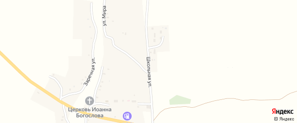 Школьная улица на карте села Чопово с номерами домов