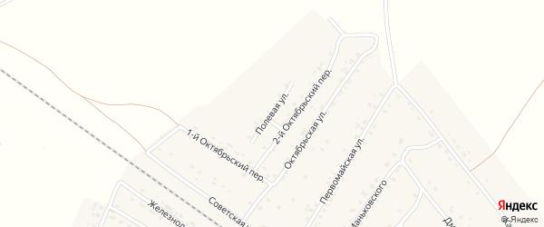 Полевая улица на карте поселка Сещи с номерами домов
