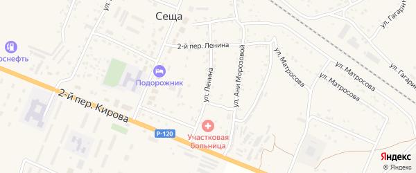 Улица Ленина на карте поселка Сещи с номерами домов