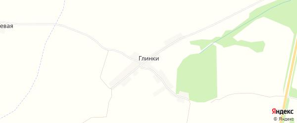Карта хутора Глинки в Брянской области с улицами и номерами домов