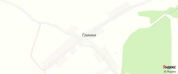 Улица Победы на карте хутора Глинки с номерами домов