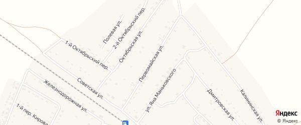 Первомайская улица на карте поселка Сещи с номерами домов