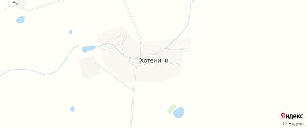 Карта деревни Хотеничей в Брянской области с улицами и номерами домов