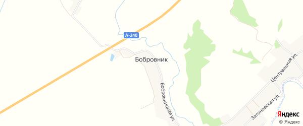 Карта поселка Бобровника в Брянской области с улицами и номерами домов