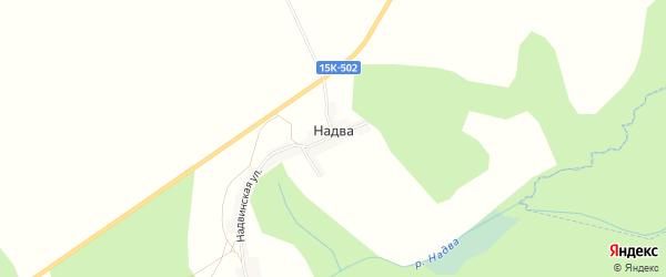 Карта деревни Надвы в Брянской области с улицами и номерами домов