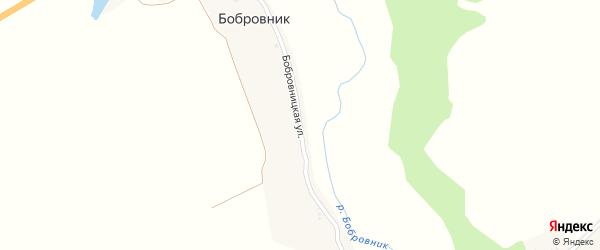 Бобровницкая улица на карте поселка Бобровника с номерами домов