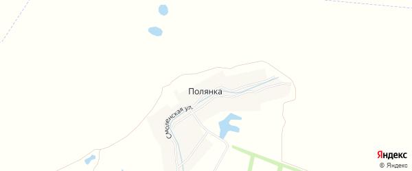 Карта деревни Полянки в Брянской области с улицами и номерами домов