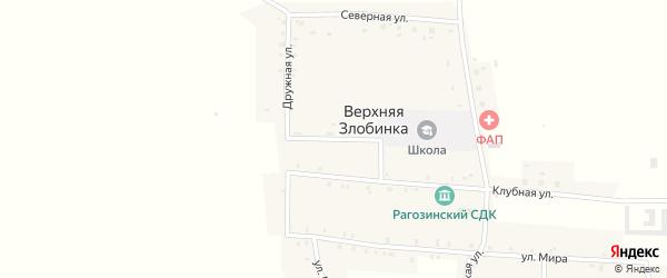 Молодежная улица на карте деревни Верхней Злобинки с номерами домов