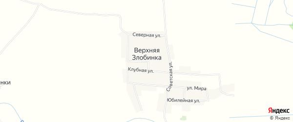 Карта деревни Верхней Злобинки в Брянской области с улицами и номерами домов