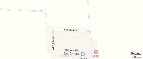 Северная улица на карте деревни Верхней Злобинки с номерами домов