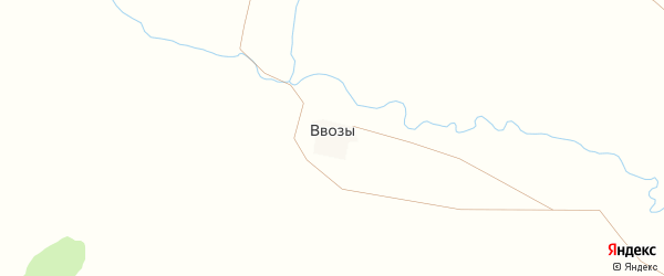 Липовая улица на карте деревни Ввозы с номерами домов