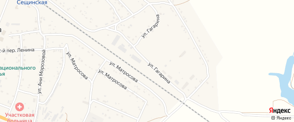 Улица Гагарина на карте поселка Сещи с номерами домов