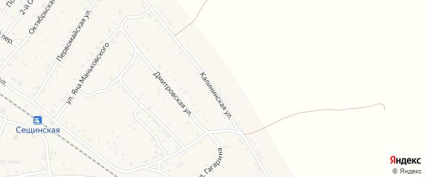 Калининская улица на карте поселка Сещи с номерами домов