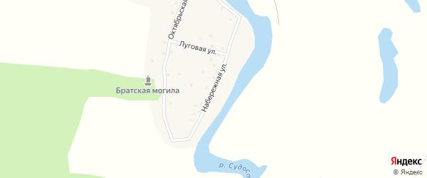 Набережная улица на карте села Сопычи с номерами домов