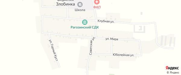 Улица Мира на карте деревни Верхней Злобинки с номерами домов