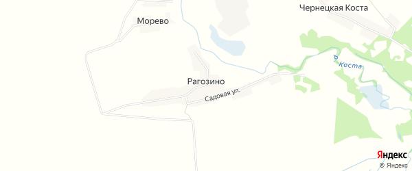 Карта села Рагозино в Брянской области с улицами и номерами домов
