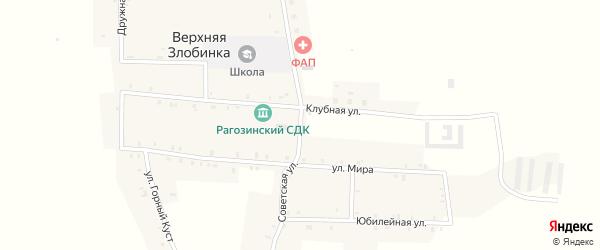 Советская улица на карте деревни Верхней Злобинки с номерами домов
