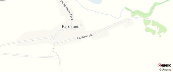 Садовая улица на карте села Рагозино с номерами домов