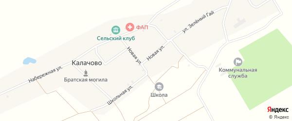 Новая улица на карте села Калачово с номерами домов