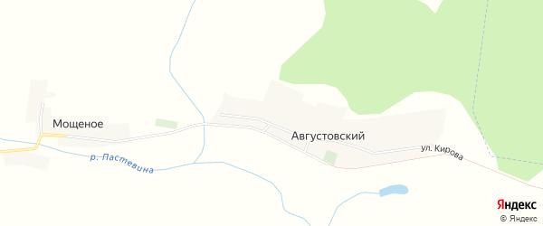 Карта Августовского поселка в Брянской области с улицами и номерами домов