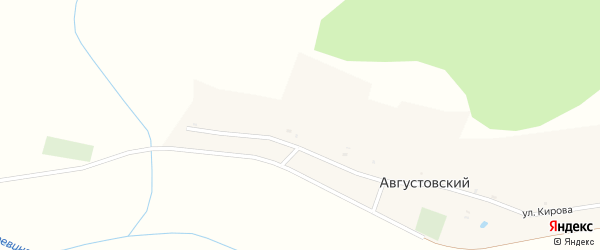 Улица Кирова на карте Августовского поселка с номерами домов