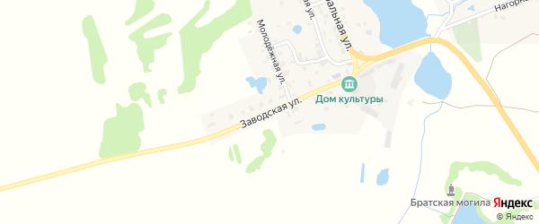 Заводская улица на карте поселка Житня с номерами домов