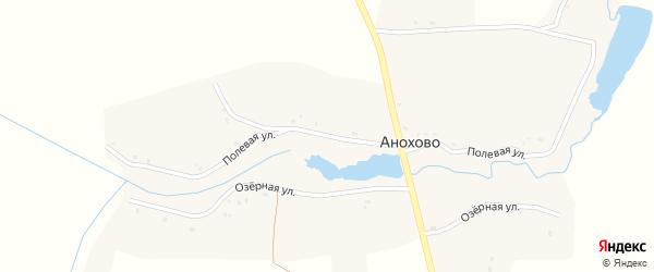 Полевая улица на карте села Анохово с номерами домов