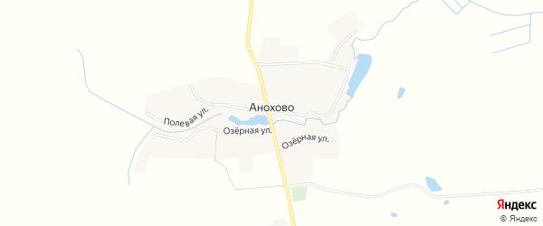 Карта села Анохово в Брянской области с улицами и номерами домов