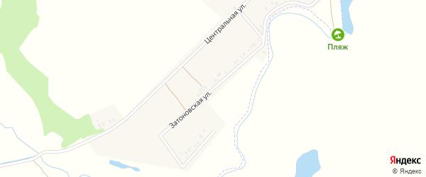 Затоновская улица на карте села Рогово с номерами домов