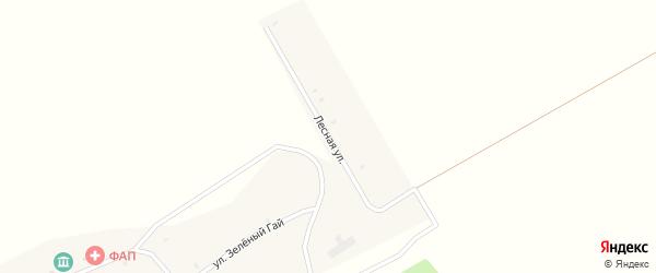 Лесная улица на карте села Калачово с номерами домов