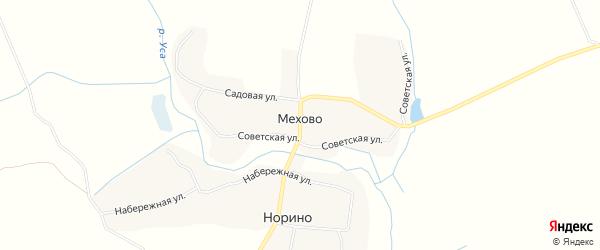 Карта деревни Мехово в Брянской области с улицами и номерами домов