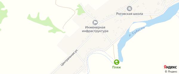Центральная улица на карте села Рогово с номерами домов