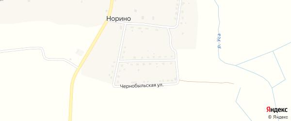 Чернобыльская улица на карте села Норино с номерами домов