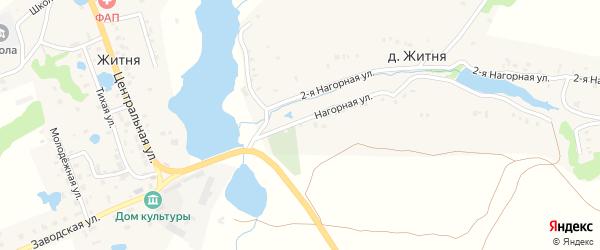 Улица Нагорная 2 на карте деревни Житня с номерами домов